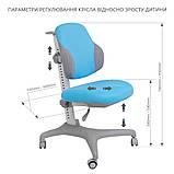 Комплект для хлопчика стіл-трансформер FunDesk Invito Grey + ергономічне крісло FunDesk Inizio Blue, фото 9