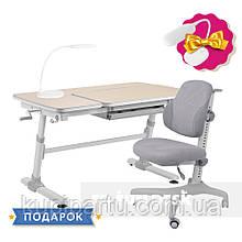 Комплект для школьника стол-трансформер FunDesk Invito Grey + эргономичное кресло FunDesk Inizio Grey