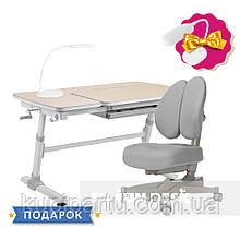 Комплект для підлітків стіл-трансформер FunDesk Invito Grey + ортопедичне крісло FunDesk Contento Grey