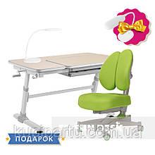 Комплект для підлітків стіл-трансформер FunDesk Invito Grey + ортопедичне крісло FunDesk Contento Green