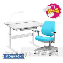 Комплект для школьника парта Colore Grey + ортопедическое кресло FunDesk Delizia Mint