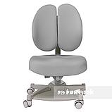 Комплект подростковая парта для школы FunDesk Amare Pink + ортопедическое кресло FunDesk Contento Grey, фото 6