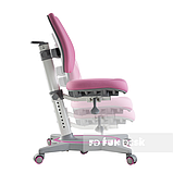 Комплект підліткова парта для школи FunDesk Amare II Pink+ортопедичне крісло FunDesk Primavera II Pink, фото 3