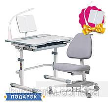 Комплект для школьника растущая парта Cubby Fressia Grey + кресло для дома FunDesk Ottimo Grey