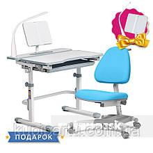 Комплект для школьника растущая парта Cubby Fressia Grey + кресло для дома FunDesk Ottimo Blue