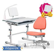 Комплект для школяра зростаюча парта Cubby Fressia Grey + крісло для дому FunDesk Ottimo Orange