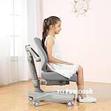 Комплект растущая парта FunDesk Amare Blue с выдвижным ящиком + кресло для подростков FunDesk Contento Grey, фото 3