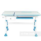 Комплект растущая парта FunDesk Amare Blue с выдвижным ящиком + кресло для подростков FunDesk Contento Grey, фото 4