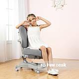 Комплект растущая парта FunDesk Amare Blue с выдвижным ящиком + кресло для подростков FunDesk Contento Grey, фото 5
