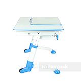 Комплект растущая парта FunDesk Amare Blue с выдвижным ящиком + кресло для подростков FunDesk Contento Grey, фото 6