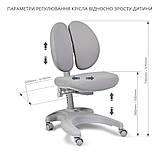 Комплект для школяра 👨🏫 парта-трансформер Fundesk Colore Grey + ергономічне крісло FunDesk Solerte Pink, фото 4