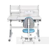 Комплект для школьников парта  Fundesk Magico Grey + ортопедическое кресло FunDesk SST4 Blue, фото 4