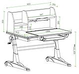 Комплект для школьников парта  Fundesk Magico Grey + ортопедическое кресло FunDesk SST4 Blue, фото 9