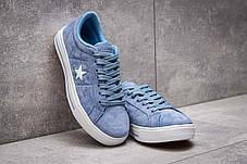 Кеды женские 13841, Converse, голубые, < 38 > р. 38-24,1см., фото 3