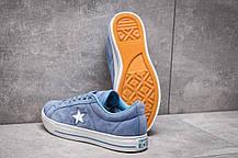 Кеды женские 13841, Converse, голубые, < 38 > р. 38-24,1см., фото 2