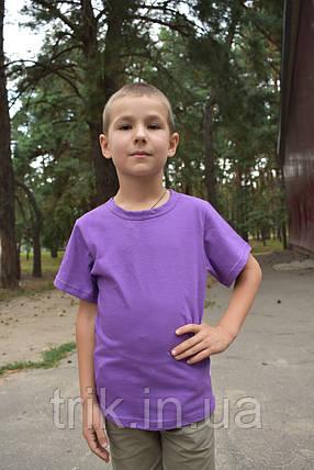 Футболка детская сиреневая для мальчика бейка средняя, фото 2