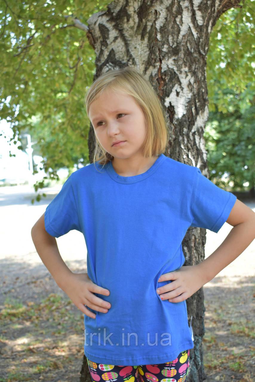 Футболка голубая для девочек бейка средняя