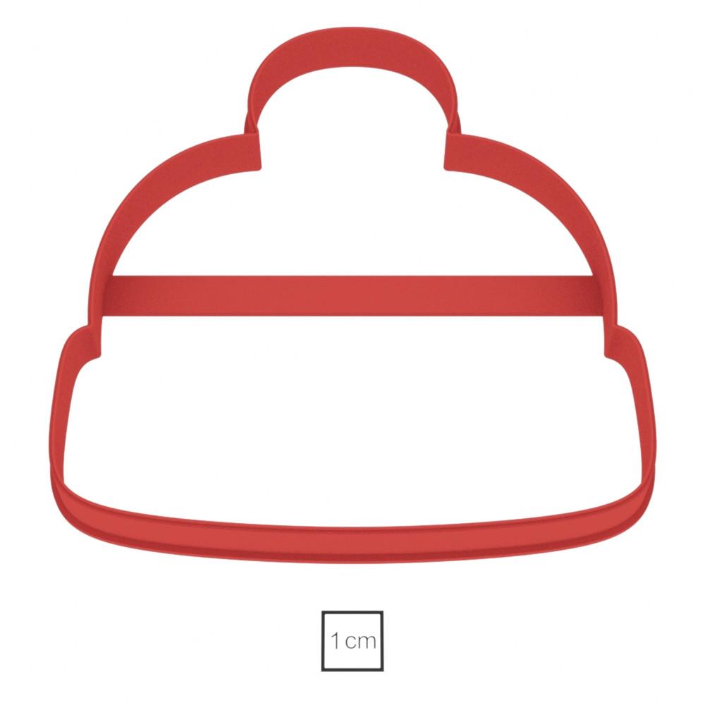 Висічка для пряників у вигляді зимової шапки