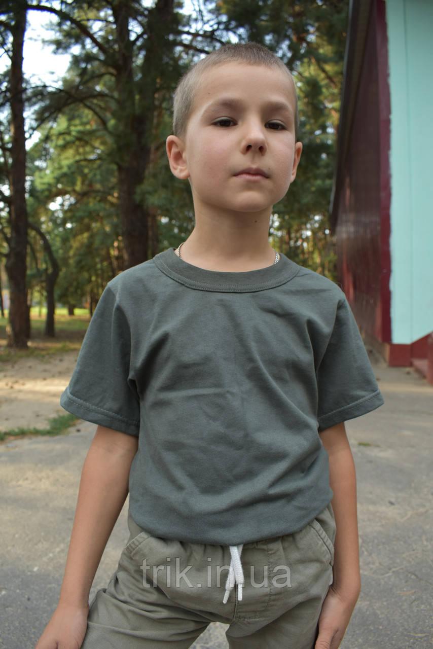 Футболка на мальчика цвета хаки
