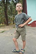 Футболка на мальчика цвета хаки, фото 2