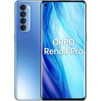 Смартфон с функцией нфс и большой внутренней и оперативной памятью на 2 sim OPPO Reno4 pro Blue 8/256 гб