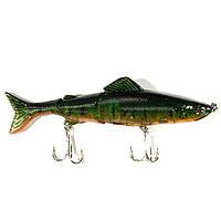 Воблер плавающий подвижная рыбка 12.7 см 17.6 г зеленый