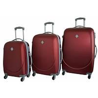 Набор чемоданов на колесах Bonro Smile Бордовый 3 штуки, фото 1