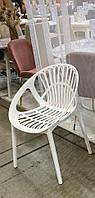 Штабелируемый стул P-09 белый монопластик от Vetro Mebel, стул для кафе