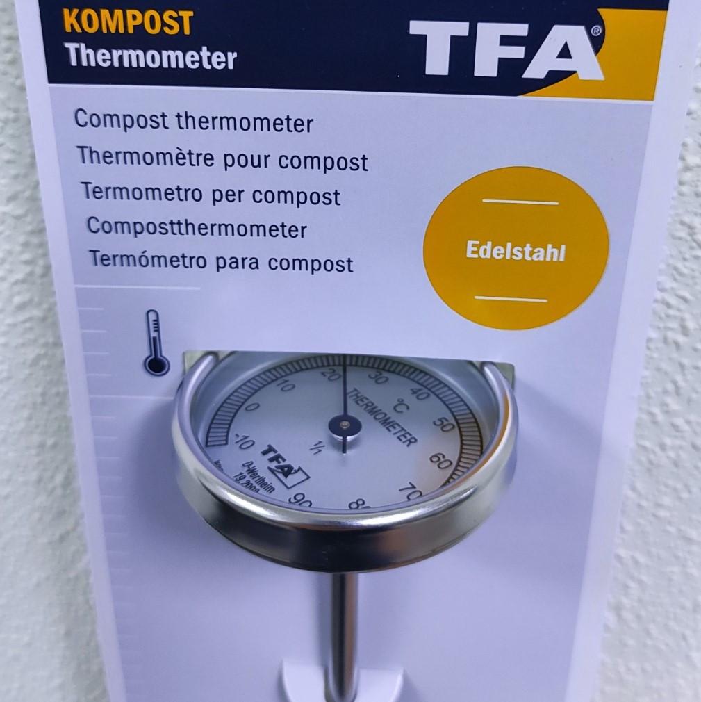 Термометр для компоста TFA, d=51x410 мм