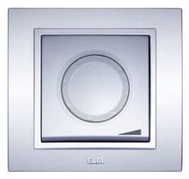 Диммер (реостат) 800Вт с подсветкой модуль серебряный EL-BI Zena