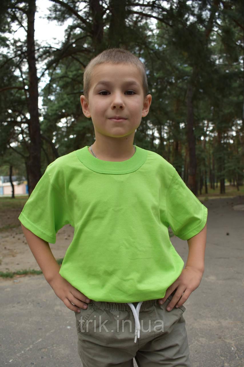 Футболки светло салатовые для мальчиков бейка широкая