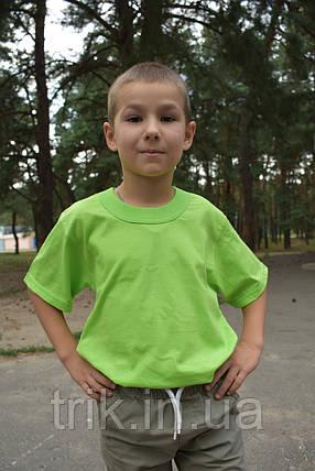 Футболки светло салатовые для мальчиков бейка широкая, фото 2