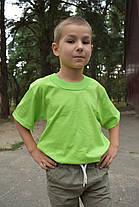 Футболки светло салатовые для мальчиков бейка широкая, фото 3