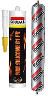 Герметик вогнестійкий силіконовий 600мл білий SOUDAL, фото 1