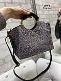 Мини-сумочка глиттер/экокожа 2049-2, фото 7