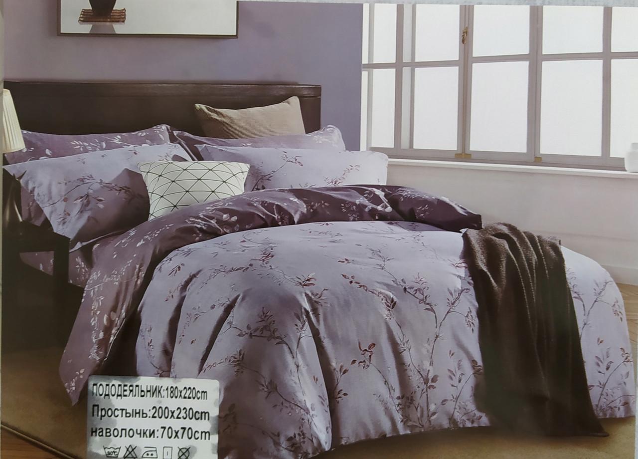 Комплект постельного белья двуспальный Комбинированный сатин-байка