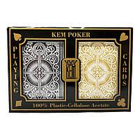Покерные карты KEM Wide Arrow Black-Gold Jumbo