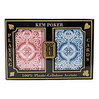 Покерные карты KEM Arrow Wide Red-Blue Jumbo