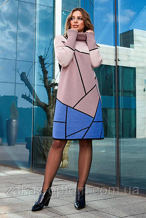Сукня жіноча в'язана оптом(46-54)Україна-64267, фото 2