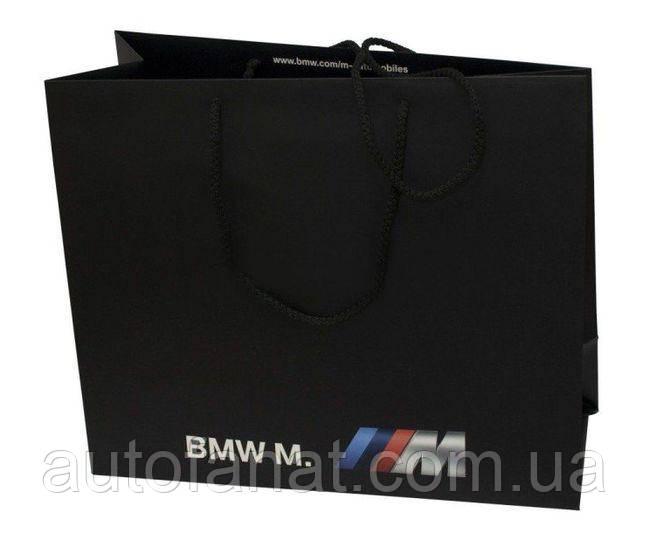 Оригинальный бумажный подарочный пакет BMW M (большой) (81852208348)