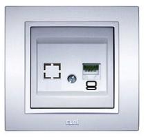 Розетка 1-а компьютерная модуль серебряная EL-BI Zena