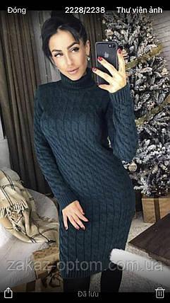 Платье женское вязаное оптом(46-50)Украина-64270, фото 2