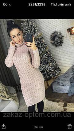 Платье женское вязаное оптом(46-50)Украина-64272, фото 2