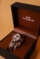 Женские оригинальные часы Coach золотистые