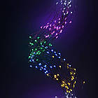 Гірлянда Кінський хвіст 200 LED, 10 ниток, Мультикольорова, дріт, від мережі, 2м., фото 2