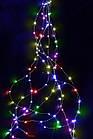 Гірлянда Кінський хвіст 200 LED, 10 ниток, Мультикольорова, дріт, від мережі, 2м., фото 3