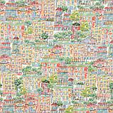 Комплект Декоративных Штор в детскую MacroHorizon Испания ДОМИКИ ЦВЕТНЫЕ, фото 4
