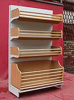 Торговые хлебные стеллажи «Интрак» 210х125 см., светло-серые, Б/у, фото 1