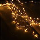 Гирлянда Конский хвост 200 LED, 10 нитей, Золотая (Желтая), проволока, от сети, 2м., фото 2