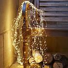Гирлянда Конский хвост 200 LED, 10 нитей, Золотая (Желтая), проволока, от сети, 2м., фото 4